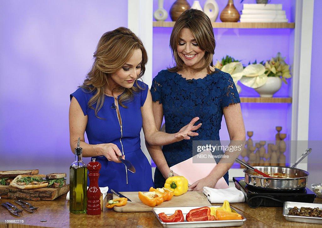 Giada de Laurentiis and Savannah Guthrie appear on NBC News' 'Today' show --