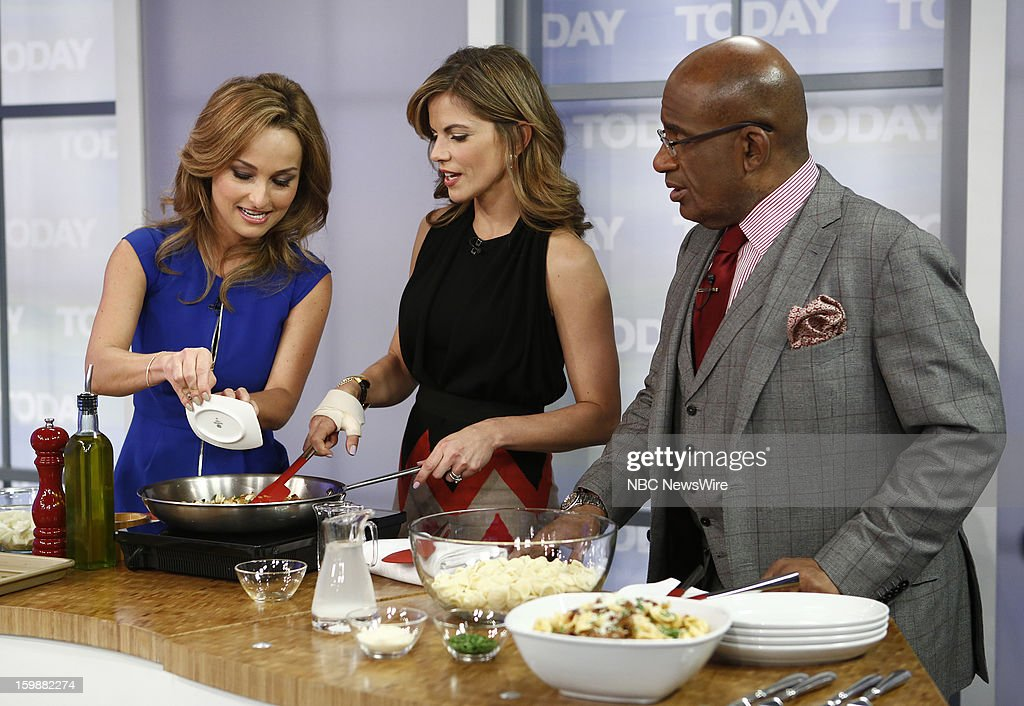 Giada de Laurentiis, Natalie Morales and Al Roker appear on NBC News' 'Today' show --