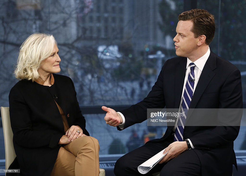 Glenn Close and Willie Geist appear on NBC News' 'Today' show --