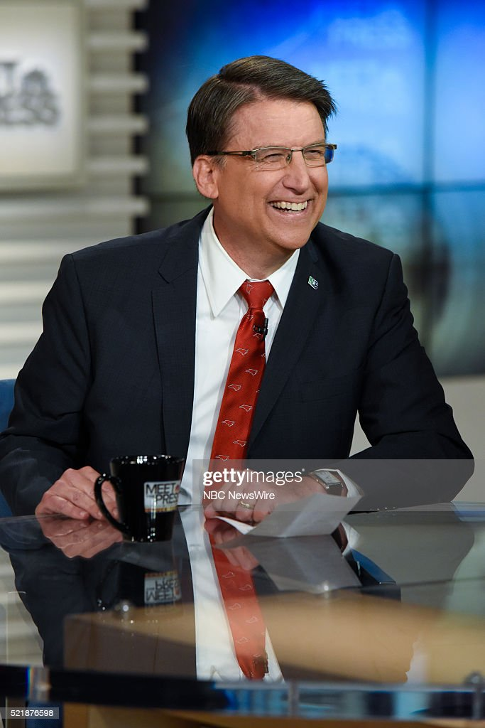 Gov Pat McCrory appears on 'Meet the Press' in Washington DC Sunday April 17 2016
