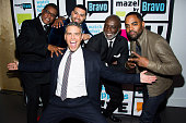 Gregg Leakes Apollo Nida Andy Cohen Peter Thomas and Todd Tucker Photo by Charles Sykes/Bravo/NBCU Photo Bank via Getty Images
