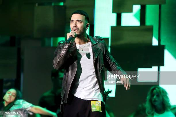 GUERRA DE IDOLOS Christian Pagan during rehearsals at the Watsco Center in the University of Miami Coral Gables Florida on April 27 2017