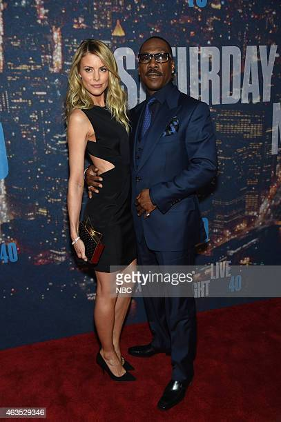 Guest Eddie Murphy walk the red carpet at the SNL 40th Anniversary Special at 30 Rockefeller Plaza in New York NY on February 15 2015