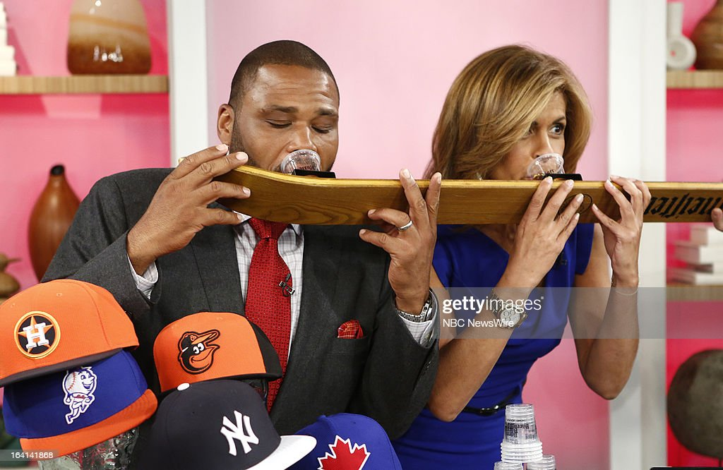 Guest host Anthony Anderson and NBC News' Hoda Kotb appear on NBC News' 'Today' show on March 20, 2013 --