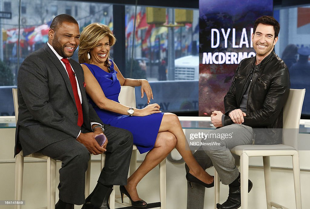 Guest host Anthony Anderson, NBC News' Hoda Kotb, actor Dylan McDermott appear on NBC News' 'Today' show on March 20, 2013 --