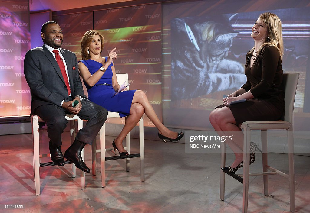 Guest host Anthony Anderson, NBC News' Hoda Kotb and Sara Haines appear on NBC News' 'Today' show on March 20, 2013 --