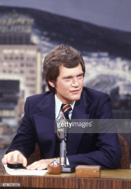 Guest Host David Letterman during an interview on April 9th 1979