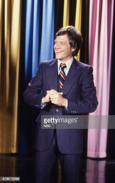 Guest Host David Letterman during an opening monologue on April 9th 1979