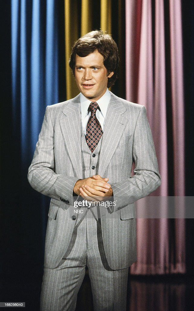 Guest host David Letterman in the 1970s --
