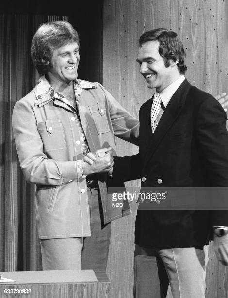 Guest Host Don Meredith greeting Acto Burt Reynolds on May 7th 1975