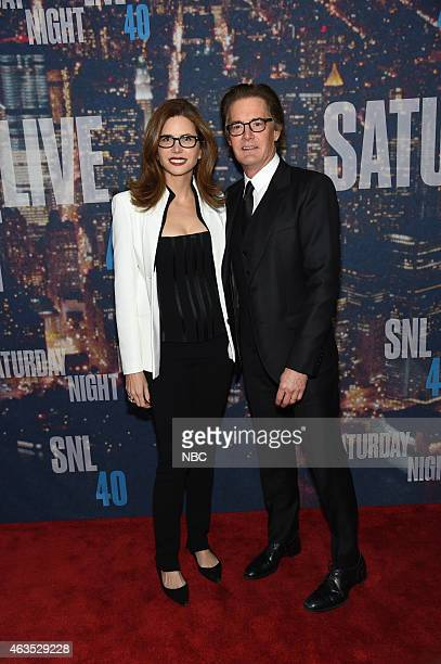 Guest Kyle Maclachlan walk the red carpet at the SNL 40th Anniversary Special at 30 Rockefeller Plaza in New York NY on February 15 2015