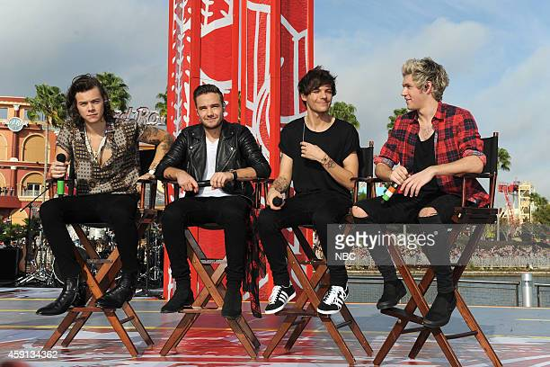 Harry Styles Liam Payne Louis Tomlinson and Niall Horan of the band One Direction appear on the 'Today' show from Universal Orlando Resort on Monday...