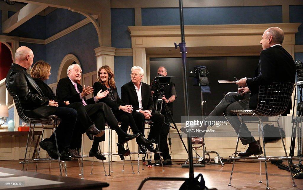 Hector Elizondo Laura San Giacomo Garry Marshall Julia Roberts Richard Gere and Matt Lauer appear on NBC News' 'Today' show