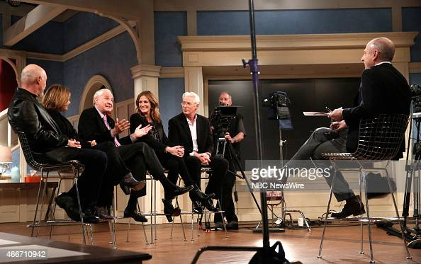 Hector Elizondo Laura San Giacomo Garry Marshall Julia Roberts Richard Gere and Matt Lauer appear on NBC News' 'Today' show