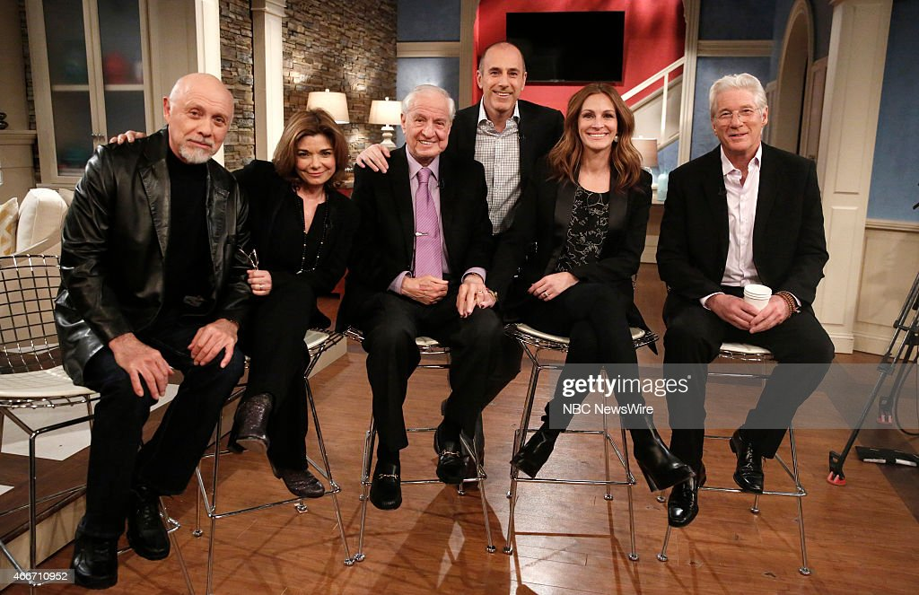 <a gi-track='captionPersonalityLinkClicked' href=/galleries/search?phrase=Hector+Elizondo&family=editorial&specificpeople=207143 ng-click='$event.stopPropagation()'>Hector Elizondo</a>, <a gi-track='captionPersonalityLinkClicked' href=/galleries/search?phrase=Laura+San+Giacomo&family=editorial&specificpeople=589597 ng-click='$event.stopPropagation()'>Laura San Giacomo</a>, <a gi-track='captionPersonalityLinkClicked' href=/galleries/search?phrase=Garry+Marshall+-+Film+Director&family=editorial&specificpeople=204633 ng-click='$event.stopPropagation()'>Garry Marshall</a>, <a gi-track='captionPersonalityLinkClicked' href=/galleries/search?phrase=Matt+Lauer&family=editorial&specificpeople=206146 ng-click='$event.stopPropagation()'>Matt Lauer</a>, <a gi-track='captionPersonalityLinkClicked' href=/galleries/search?phrase=Julia+Roberts&family=editorial&specificpeople=202605 ng-click='$event.stopPropagation()'>Julia Roberts</a> and <a gi-track='captionPersonalityLinkClicked' href=/galleries/search?phrase=Richard+Gere&family=editorial&specificpeople=202110 ng-click='$event.stopPropagation()'>Richard Gere</a> appear on NBC News' 'Today' show --