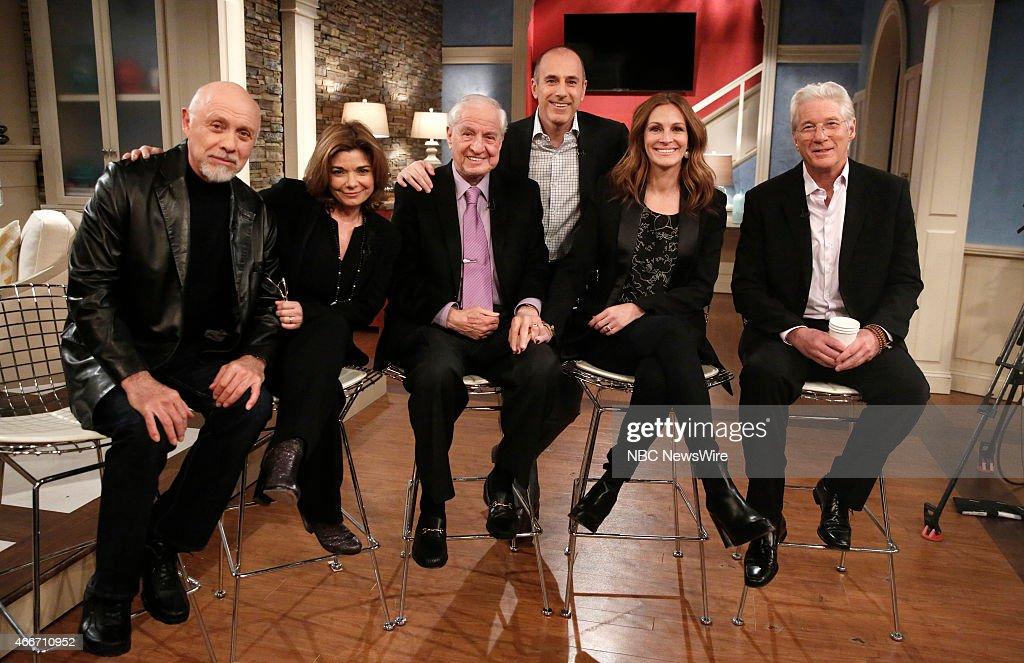 Hector Elizondo Laura San Giacomo Garry Marshall Matt Lauer Julia Roberts and Richard Gere appear on NBC News' 'Today' show