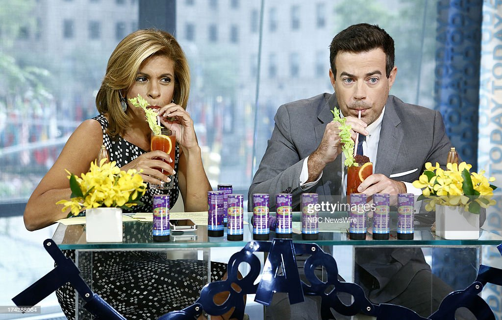 Hoda Kotb and Carson Daly appear on NBC News' 'Today' show --