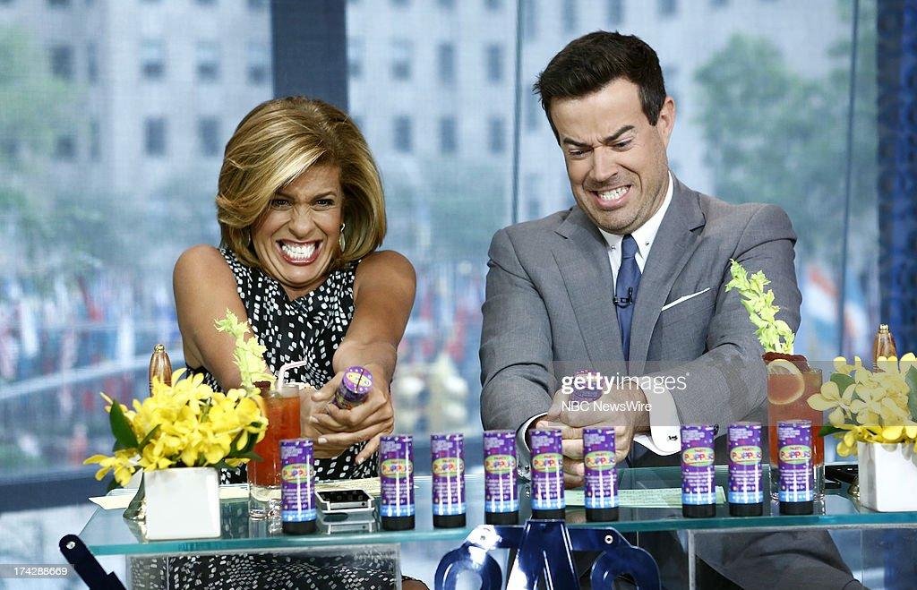 Hoda Kotb and Carson Daly appear on NBC News' 'Today' show --