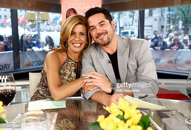 Hoda Kotb and Dean Cain appear on NBC News' 'Today' show