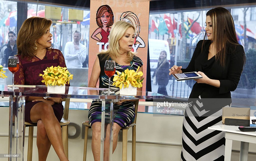 Hoda Kotb and Kathie Lee Gifford and Bobbie Thomas appear on NBC News' 'Today' show --