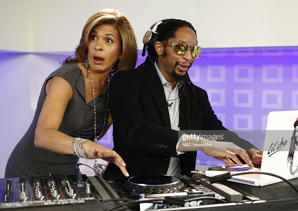 <a gi-track='captionPersonalityLinkClicked' href=/galleries/search?phrase=Hoda+Kotb&family=editorial&specificpeople=2338013 ng-click='$event.stopPropagation()'>Hoda Kotb</a> and L'il Jon appear on NBC News' 'Today' show --