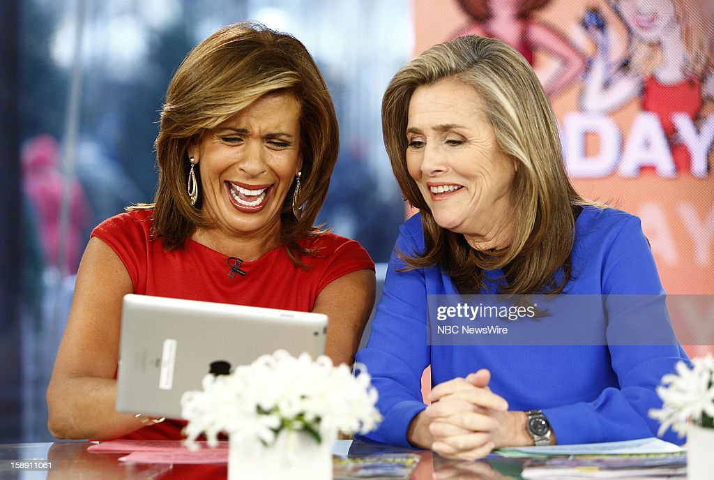 Hoda Kotb and Meredith Vieira appear on NBC News' 'Today' show --