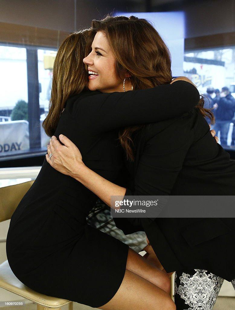 Hoda Kotb and Tiffani Thiessen appear on NBC News' 'Today' show --