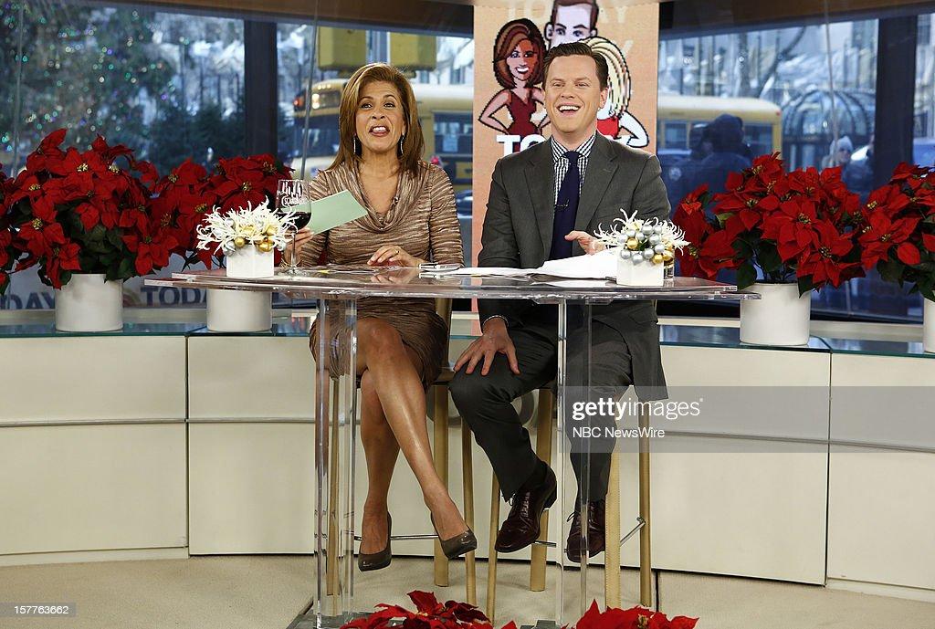 Hoda Kotb and Willie Geist appear on NBC News' 'Today' show --