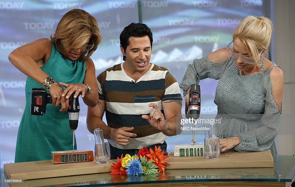 Hoda Kotb, Frank Fontana and Kathie Lee Gifford appear on NBC News' 'Today' show --