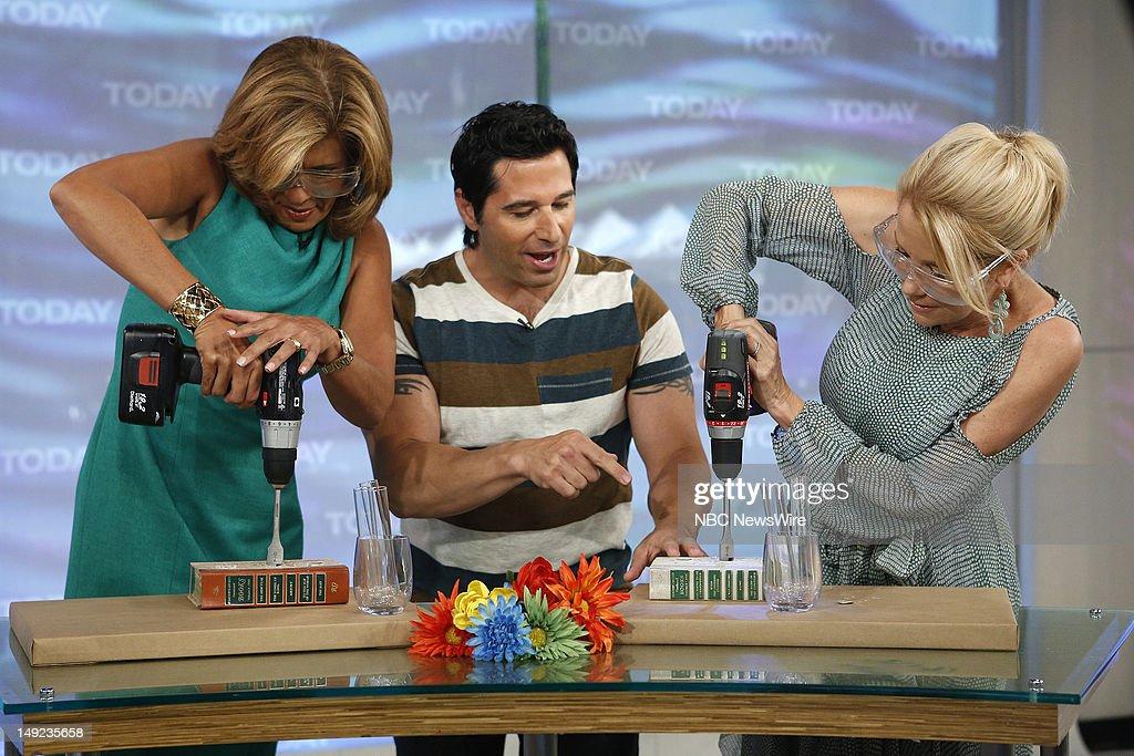 Hoda Kotb, Frank Fontana and Kathie Lee Gifford appear on NBC News' 'Today' show --