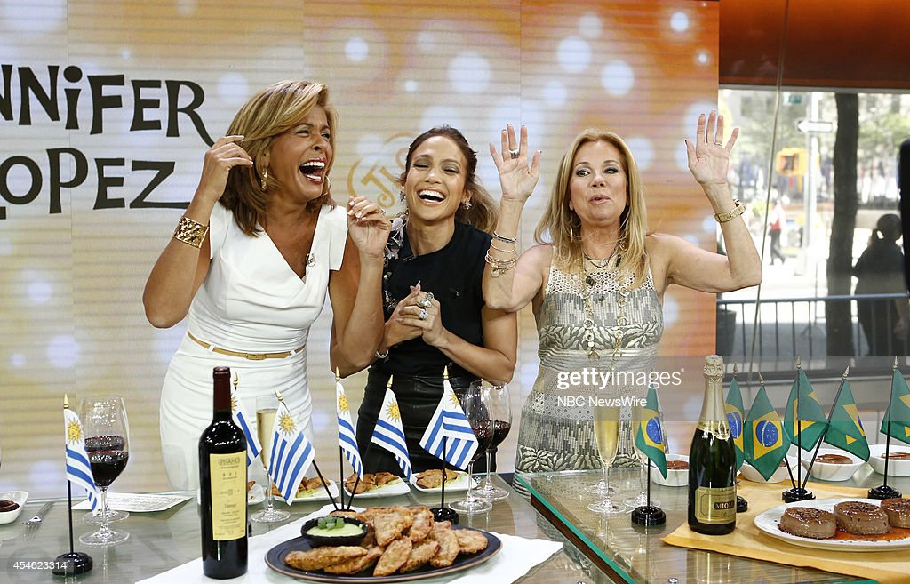 Hoda Kotb, Jennifer Lopez and Kathie Lee Gifford appear on NBC News' 'Today' show --