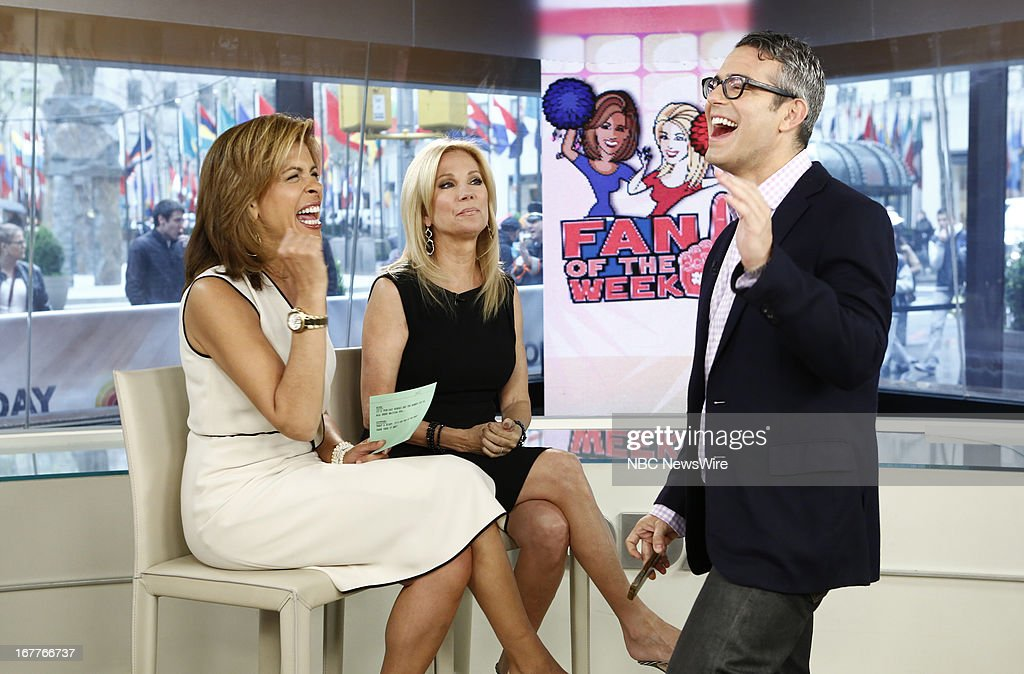 Hoda Kotb, Kathie Lee Gifford and Andy Cohen appear on NBC News' 'Today' show --