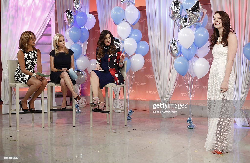 Hoda Kotb, Kathie Lee Gifford and Ann Shoket appear on NBC News' 'Today' show on April 1, 2013 --