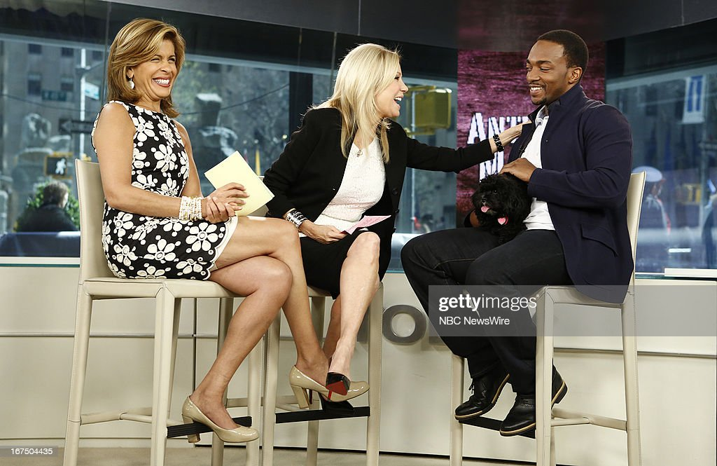 Hoda Kotb, Kathie Lee Gifford and Anthony Mackie appear on NBC News' 'Today' show --