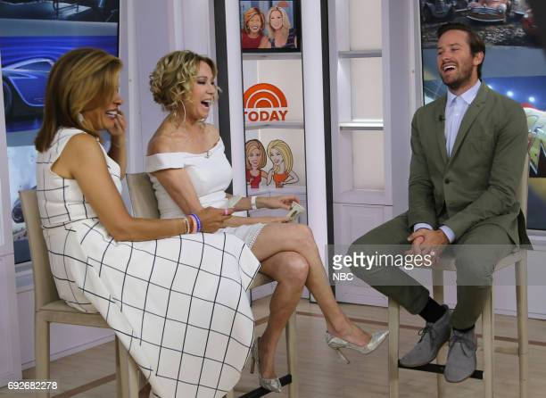 Hoda Kotb Kathie Lee Gifford and Armie Hammer on Monday June 5 2017