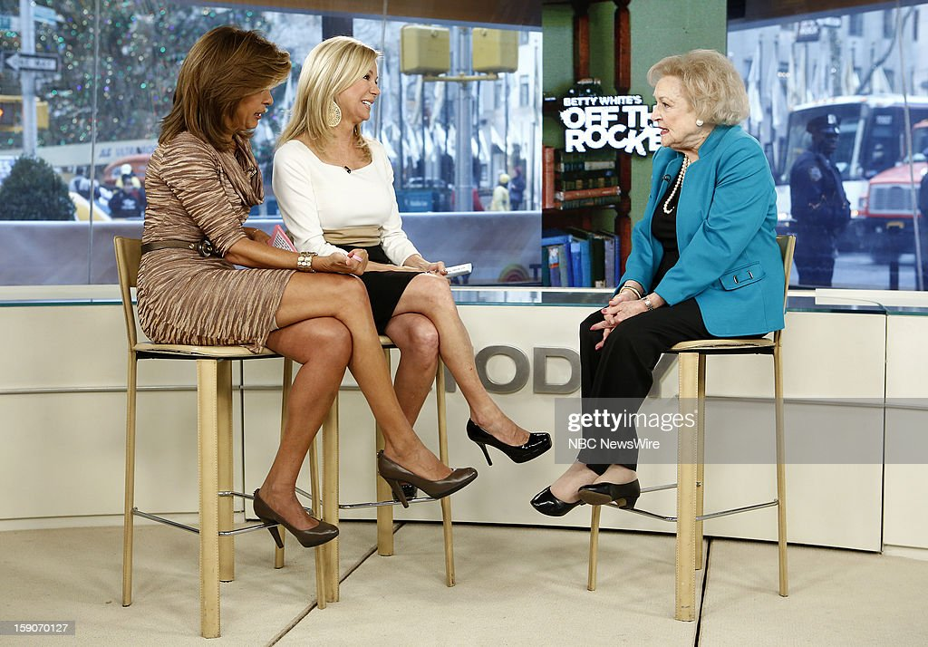 Hoda Kotb, Kathie Lee Gifford and Betty White appear on NBC News' 'Today' show --