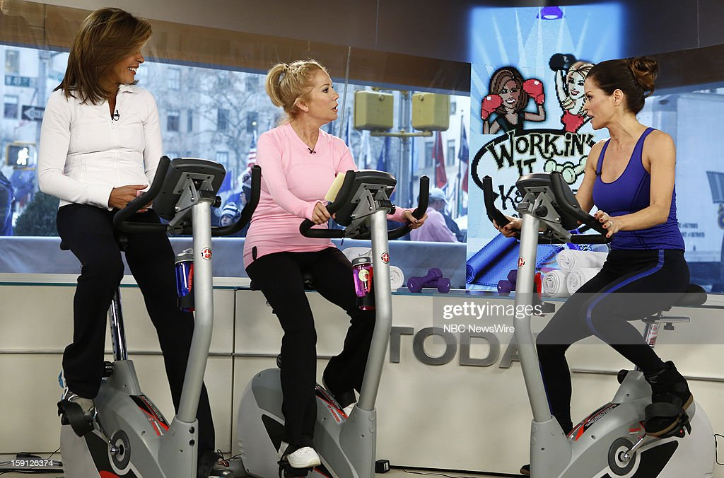 Hoda Kotb, Kathie Lee Gifford and Brooke Burke-Charvet appear on NBC News' 'Today' show --