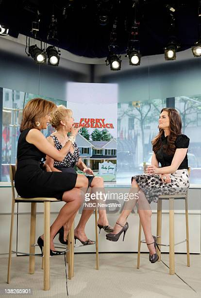 Hoda Kotb Kathie Lee Gifford and Brooke Shields appear on NBC News' 'Today' show