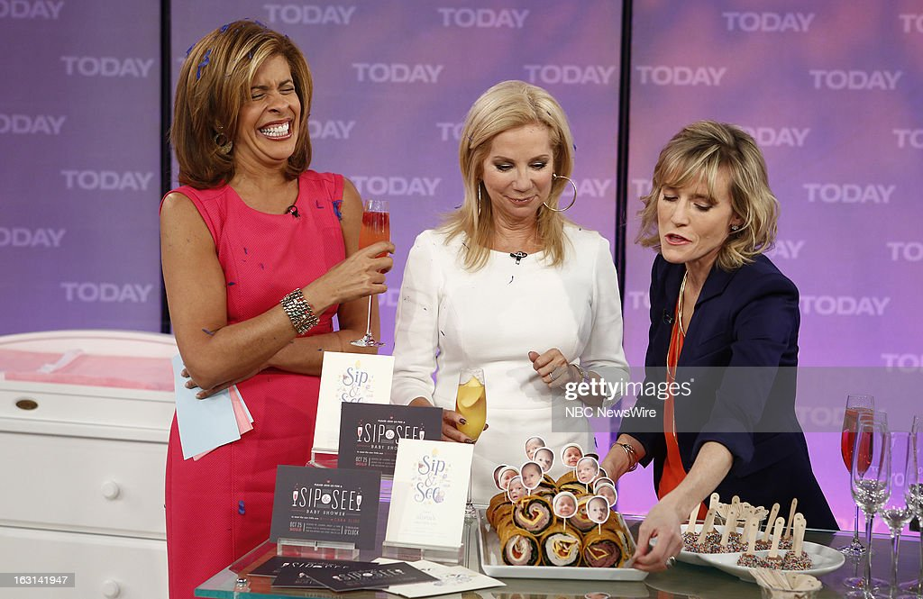 Hoda Kotb, Kathie Lee Gifford and Carley Roney appear on NBC News' 'Today' show --