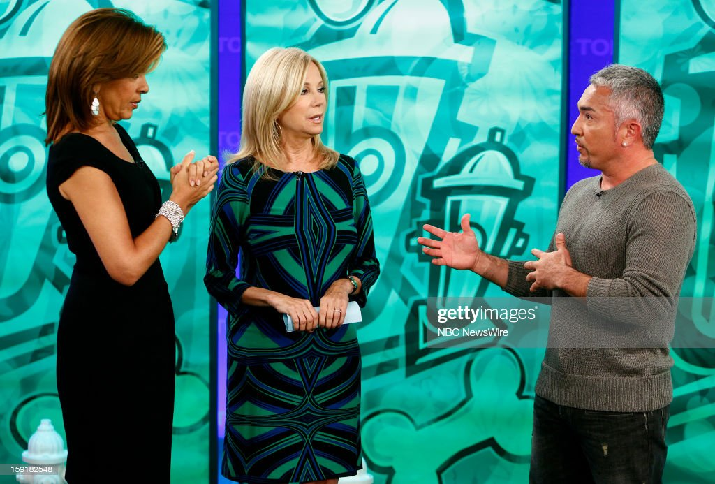 Hoda Kotb, Kathie Lee Gifford and Cesar Millan appear on NBC News' 'Today' show --