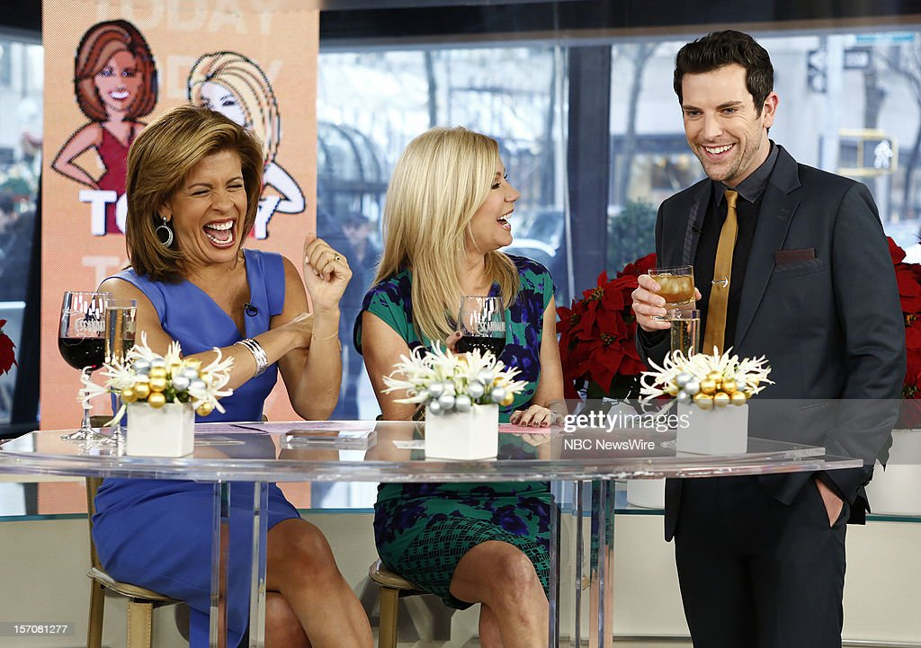 Hoda Kotb, Kathie Lee Gifford and Chris Mann appear on NBC News' 'Today' show --