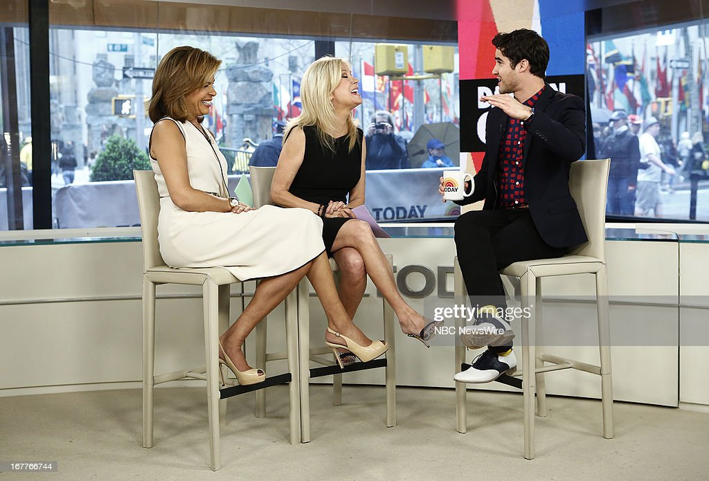 Hoda Kotb, Kathie Lee Gifford and Darren Criss appear on NBC News' 'Today' show --