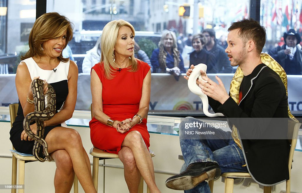 Hoda Kotb, Kathie Lee Gifford and Dominic Monaghan appear on NBC News' 'Today' show --