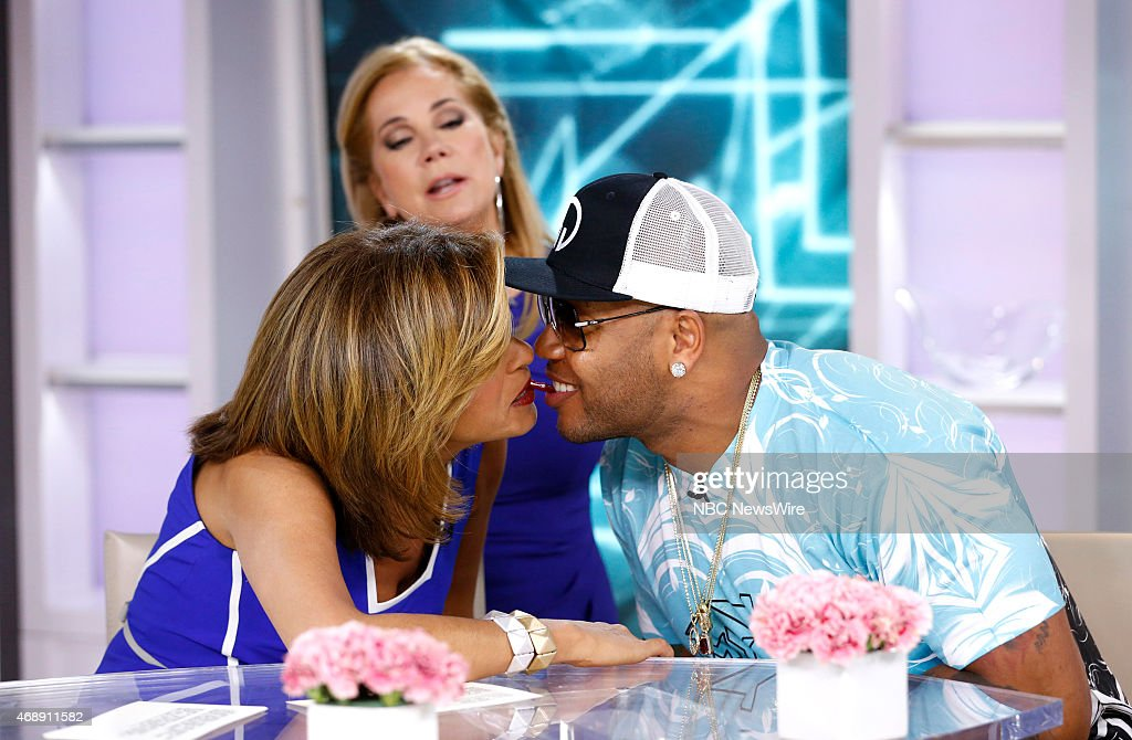 Hoda Kotb Kathie Lee Gifford and Flo Rida appear on NBC News' 'Today' show