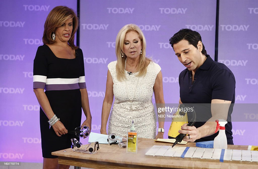 Hoda Kotb, Kathie Lee Gifford and Frank Fontana appear on NBC News' 'Today' show --