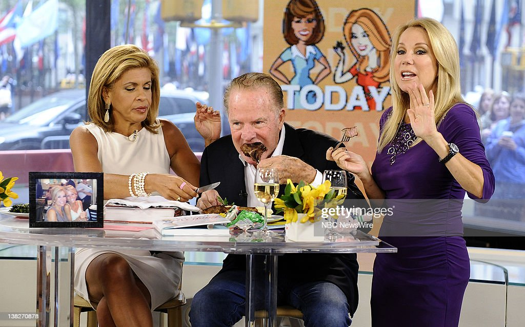 Hoda Kotb, Kathie Lee Gifford and Frank Gifford appear on NBC News' 'Today' show