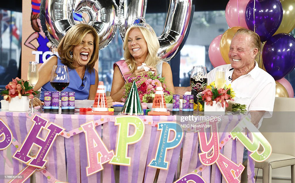 Hoda Kotb, Kathie Lee Gifford and Frank Gifford appear on NBC News' 'Today' show --
