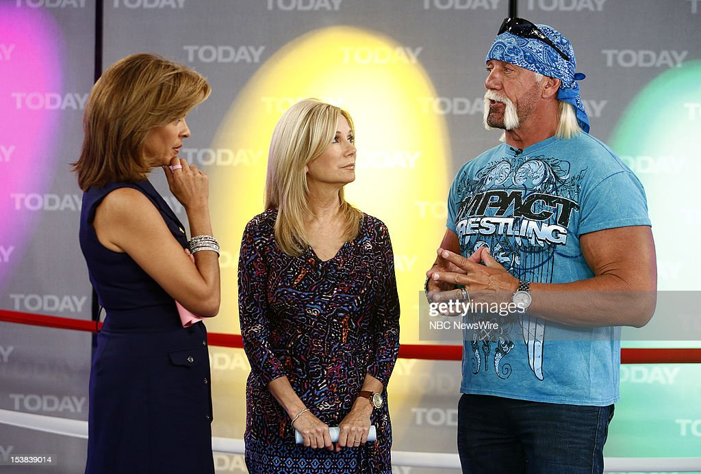 Hoda Kotb, Kathie Lee Gifford and Hulk Hogan appear on NBC News' 'Today' show --