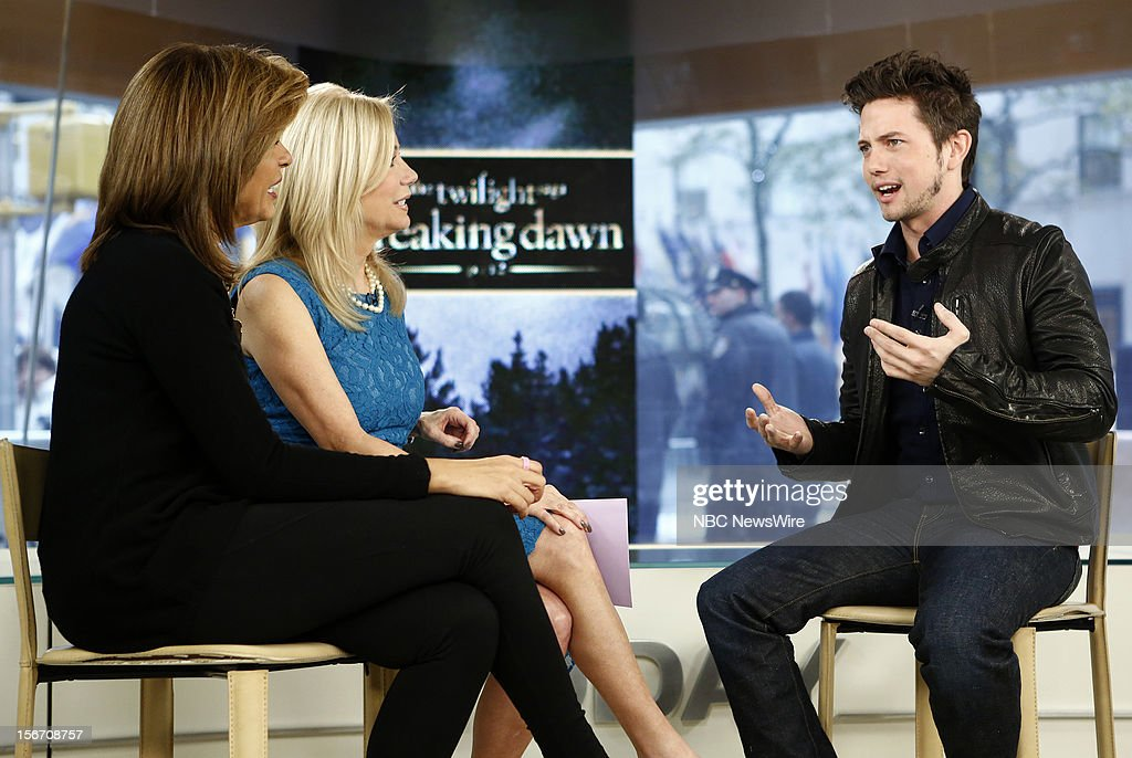 Hoda Kotb, Kathie Lee Gifford and Jackson Rathbone appear on NBC News' 'Today' show --