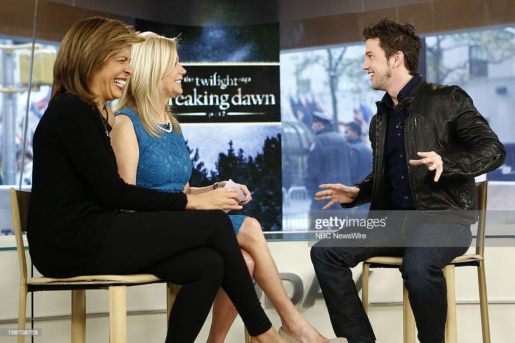 Hoda Kotb, Kathie Lee Gifford and Jackson Rathbone appear on NBC News' 'Today' show --